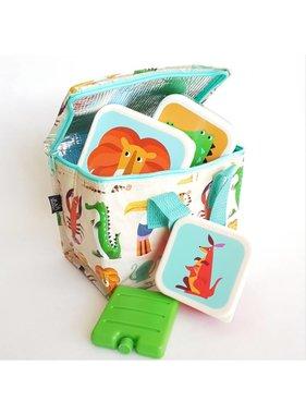 SET: Kinder Lunch Koeltasje Dierentuin  met Broodtrommeltjes