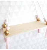 Babykamer Wand- Decoratieplankje Roze
