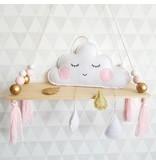 Babykamer Decoratie Vilten Wolkje met druppels