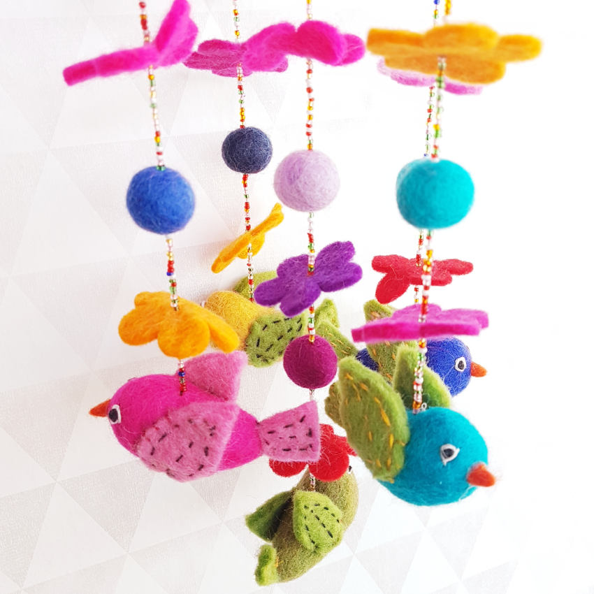 Babykamer Mobiel Vilten Vogeltjes