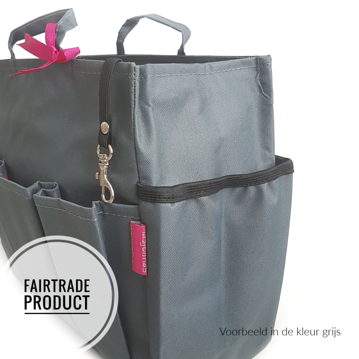 Bag in Bag Extra Large Classic Zwart Rits