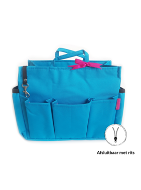 Bag in Bag Extra Large Classic Blauw Rits