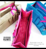 Bag in Bag Large Classic Blauw Rits