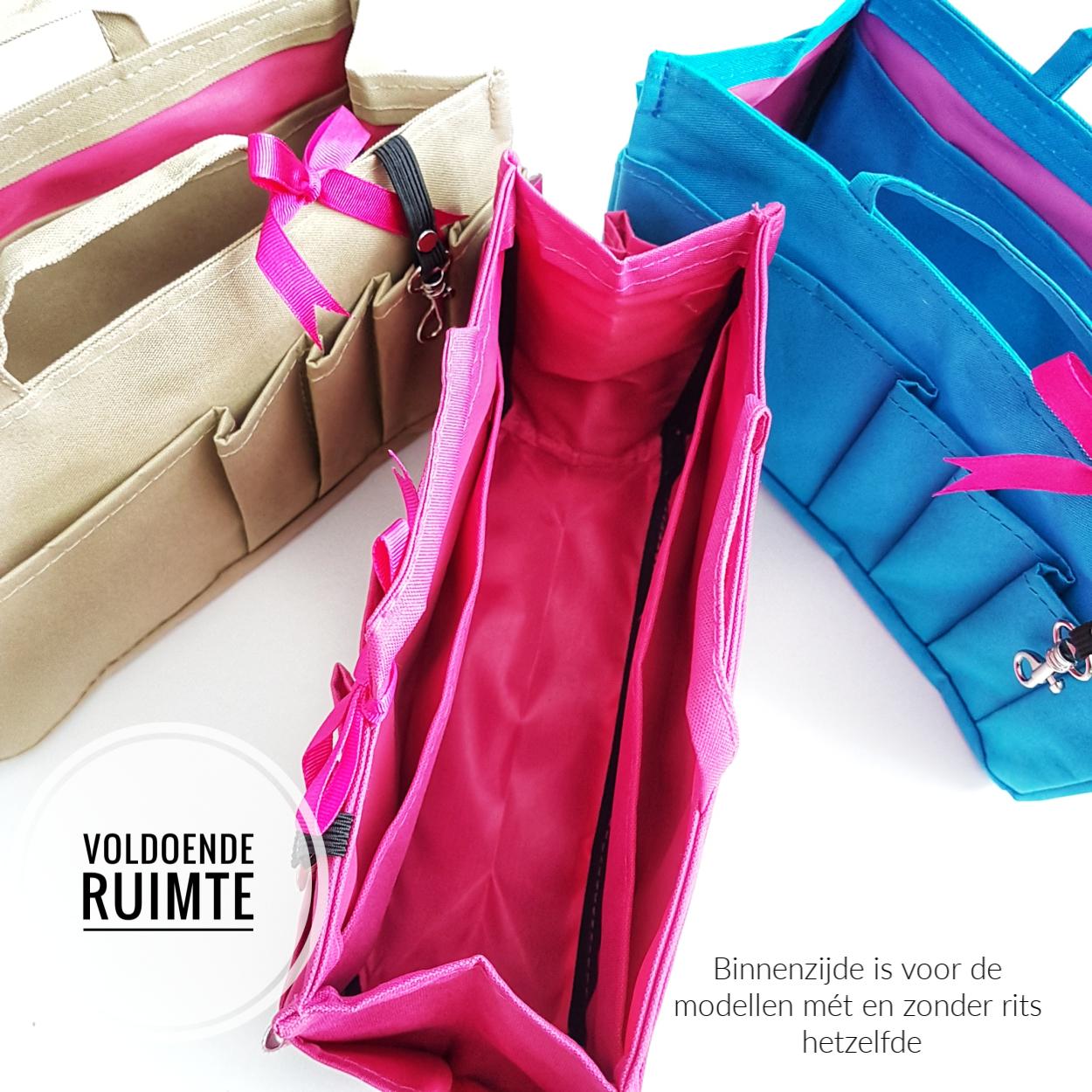 Bag in Bag Medium Classic Rits Zwart