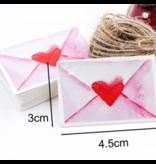Cadeaulabels Liefdesbrief (50 stuks)