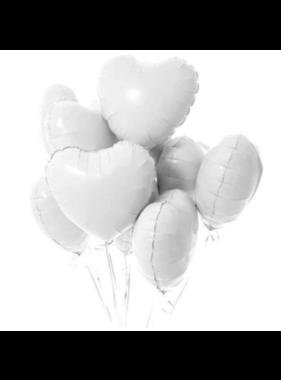 Helium Ballon Hart wit