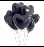 Helium Ballon Hart Zwart