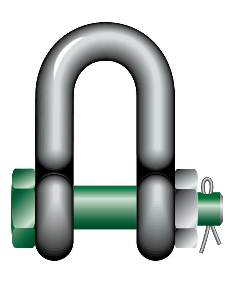 Green Pin D-sluiting Moerbout G-4153
