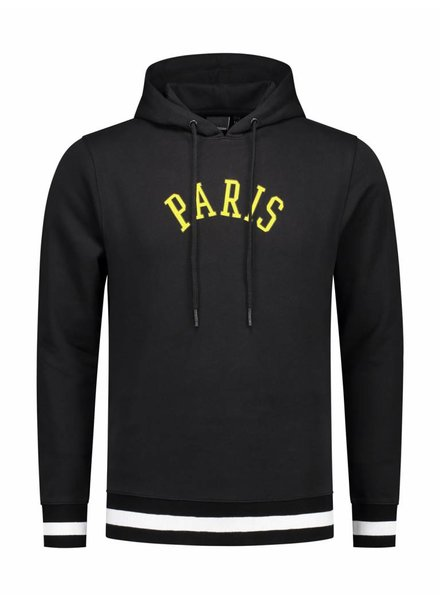 ANGEL&MACLEAN Black Paris City Hoodie