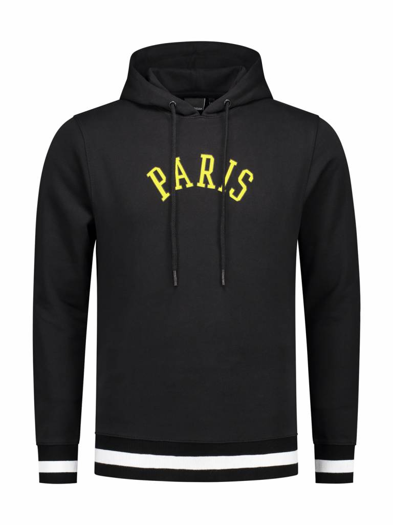ANGEL&MACLEAN Black Paris City Hoodie