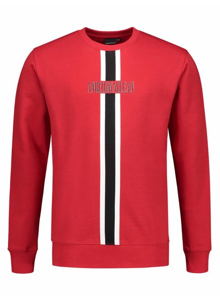 ANGEL&MACLEAN Red Stripe Sweater