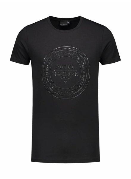ANGEL&MACLEAN Black Logo T-shirt