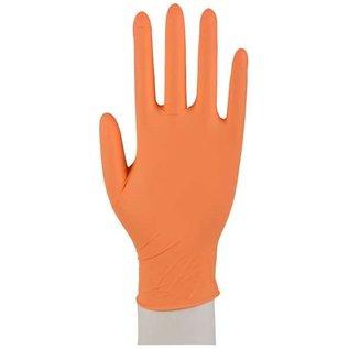 ABENA OPRUIMING: Nitril handschoenen poedervrij oranje Sensitive (10x100)