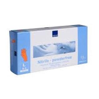 ABENA DESTOCKAGE: Gants nitrile non-poudré orange Sensitive (10x100)