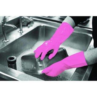 Polyco HPC Healthline Gants de ménage latex réutilisable 30 cm GR/01 rose (6x12 paires)