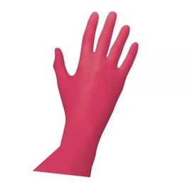 Unigloves Red Pearl Gants nitrile non-poudré rouge Red Pearl (10x100)