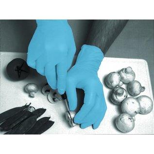 Polyco Healthline SHIELD Nitril handschoenen licht gepoederd blauw industrieel SHIELD GD20 (10x100)