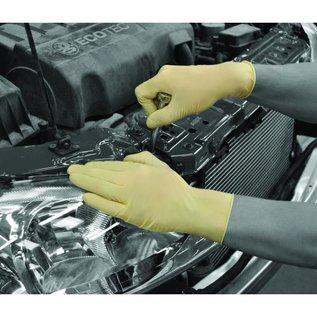 Polyco Healthline SHIELD Einweg Latex Handschuhe gepudert weiss SHIELD GD45 (10x100)
