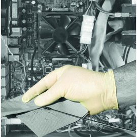 Polyco Healthline SHIELD Latex Handschuhe puderfrei weiss Einweg SHIELD GD05 (10x100)