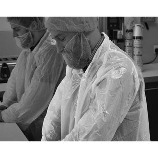 Polyco Healthline SHIELD Wegwerp bezoekersjas PE poly-ethyleen transparant SHIELD DC01 (240 stuks)