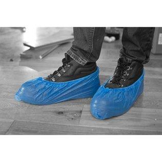 Polyco Healthline SHIELD Surchaussure jetable CPE bleu avec semelle anti-dérapante SHIELD DF01 (20x100)