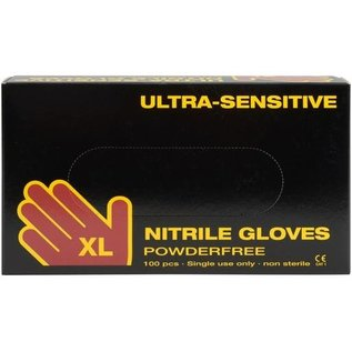 Abena Ultra Sensitive Nitril ULTRA SENSITIVE handschoenen poedervrij ZWART (10x100)