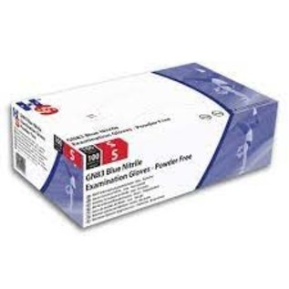 Polyco Healthline HandSafe DIKKE Nitril handschoenen poedervrij blauw conform EN455:1,2,3,4 Hand Safe GN83 (10x100)