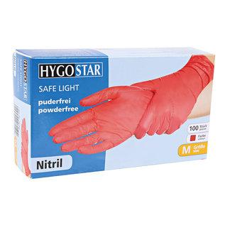 HYGOSTAR Nitril handschoenen poedervrij rood (10x100)
