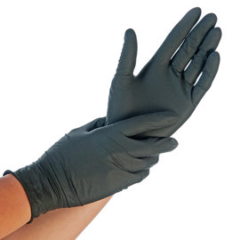 HYGOSTAR Nitril handschoenen DIK zwart HYGOSTAR Extra Safe  (10x100)