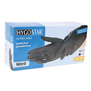 HYGOSTAR Gants nitrile TRES EPAIS non-poudré noir (10x100)