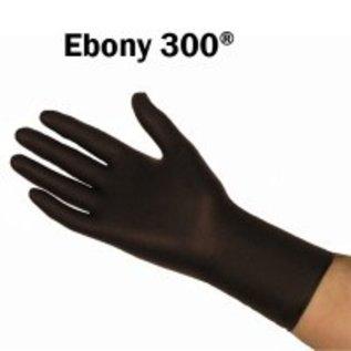 Barber Healthcare EBONY Gants nitrile EBONY non-poudré noir épais avec manchette longue (10x50)