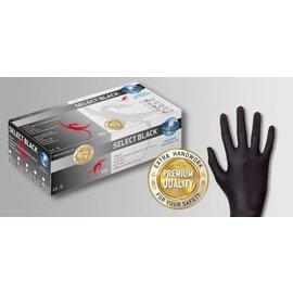 UniGloves Selectblack Latex handschoenen poedervrij zwart UniGloves Selectblack (10x100)