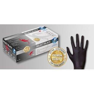 Unigloves Select Black Latex handschoenen poedervrij zwart Select Black (10x100)
