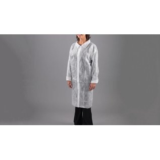 Polyco Healthline SHIELD Blouse visiteur jetable poly-propylene non-tissé blanc SHIELD DC02 (1x100)