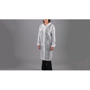Polyco HPC Healthline Blouse visiteur jetable poly-propylene non-tissé blanc (1x100)