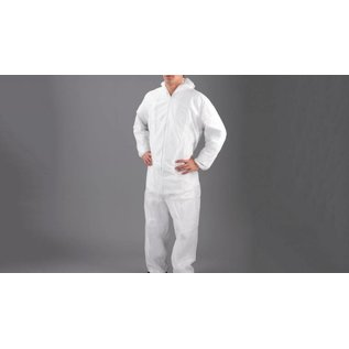 Polyco HPC Healthline Wegwerp overall poly propyleen non-woven wit DC03 (1x50)