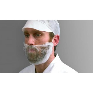 Polyco Healthline SHIELD Masque à barbe PP non-tissé jetable SHIELD DK05 (10x100)