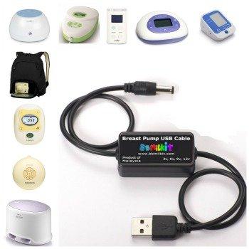 Borstkolf zonder accu? BBMilkit USB kabel is dé oplossing om toch mobiel te zijn.