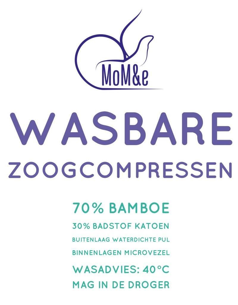 MoM&e Wasbare Zoogcompressen Bamboe 5 sets