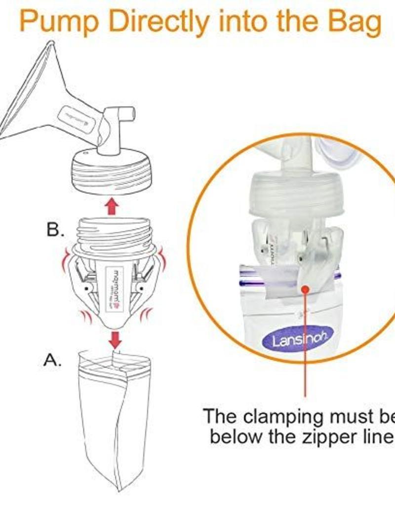 Maymom Adapter moedermelk bewaarzakje (2 stuks)