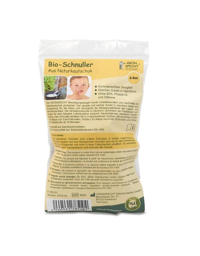 Gruenspecht Bio fopspeen 100% natuurrubber