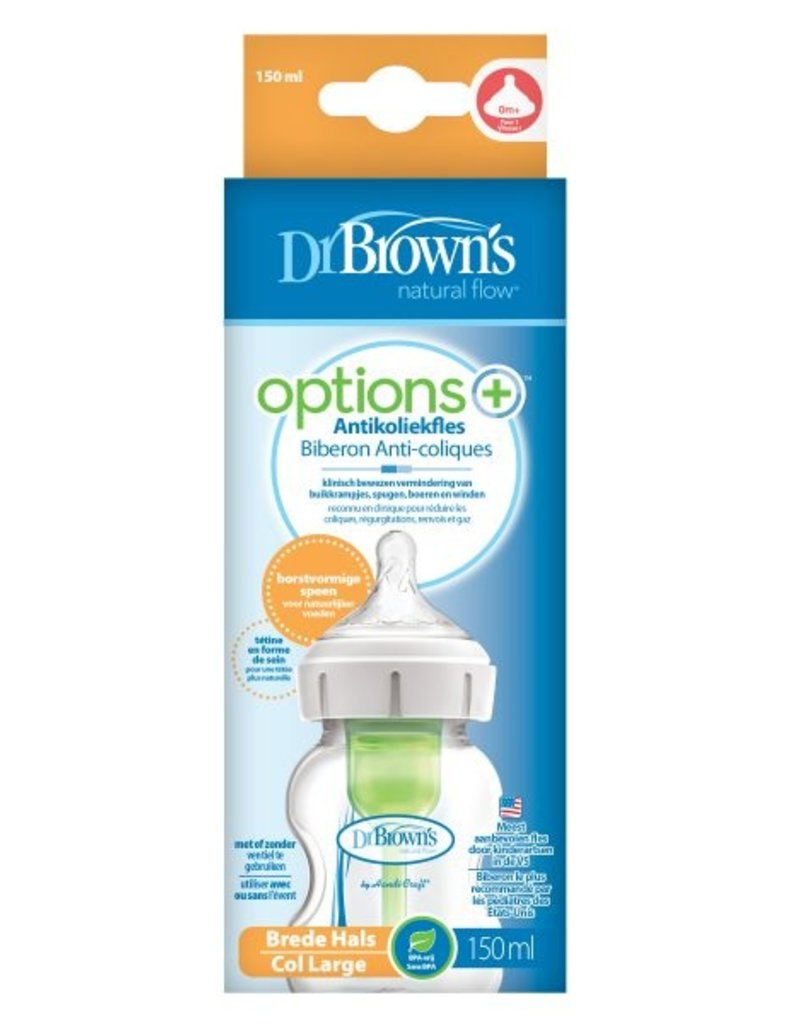 Dr. Brown's Dr. Brown's 150 ml fles brede nek