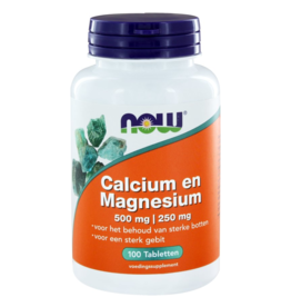 Now Calcium - Magnesium 500-250mg