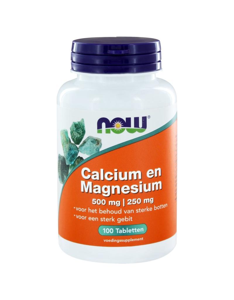 Now Calcium - Magnesium 500-250mg