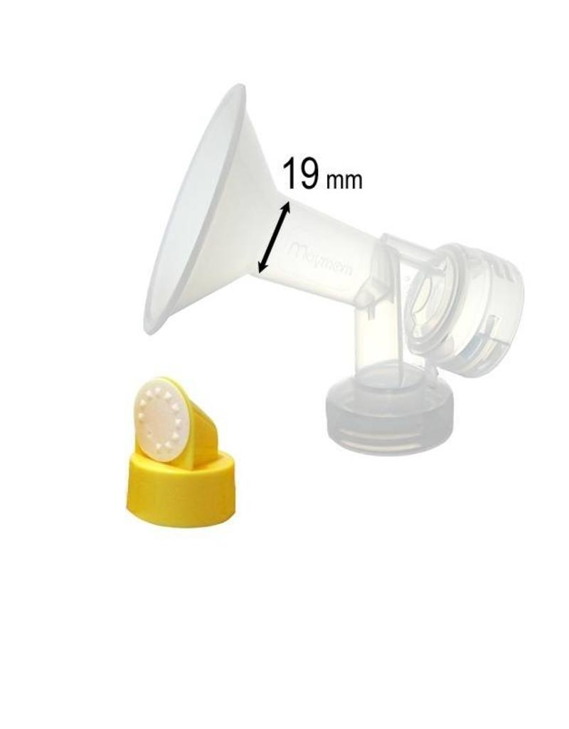 Medela Medela 19 mm borstschild met connector
