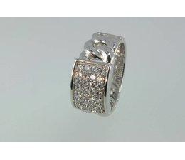 zilver ring met zirkonia's