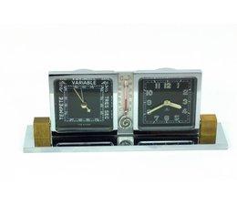 Imhof ''art-deco'' klokje met barometer
