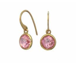oorhangers met roze zirkonia