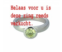 zilver ring met peridoot