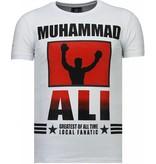 Local Fanatic Muhammad Ali - Rhinestone T-shirt - Wit